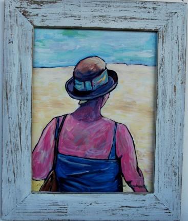 2013_Nico_Verstraete_Vrouw_naar_strand